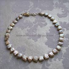 jewellery pearl necklace images Pearl jewelry making ideas square coin pearl necklace jpg