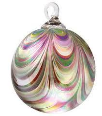 og103 rainbow platinum twist designer ornament glass eye studio