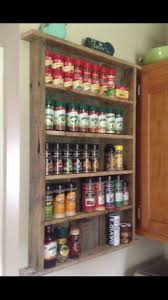 Best Spice Racks For Kitchen Cabinets Best 25 Pallet Spice Rack Ideas On Pinterest Kitchen Spice Rack