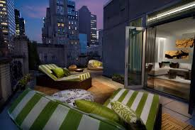 modern luxurious balcony pillows couch luxury windowa rooftop