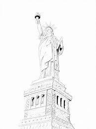 free coloring pages of statue liberty daes clip art library