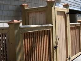 Backyard Garbage Cans by A Very Nice Way To Hide Trash Cans On One Side An Air Conditioner