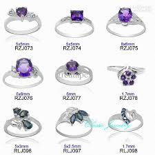 sterling gem rings images 2018 100 real 925 sterling silver natural gemstone ring mixed jpg