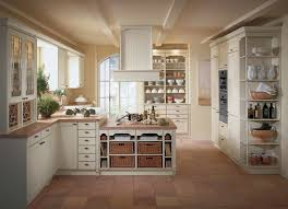 Modern Country Kitchen Ideas Modern Country Kitchen Designs White Wall Mounted Hood Beige Stone