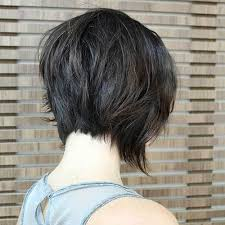 front and back views of chopped hair 50 trendy inverted bob haircuts