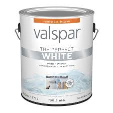 shop valspar perfect white semi gloss latex interior paint and