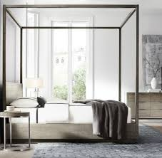 restoration hardware modern machinto four poster bed starting at