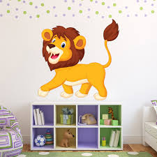 fun lion wall sticker safari animal wall decal kids bedroom home fun lion wall sticker safari animal wall decal kids bedroom home decor