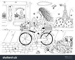 vector illustration zentangl woman on stock vector 400335094