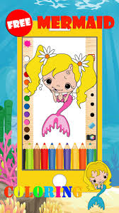 mermaid coloring pages game free kindergarten apps 148apps