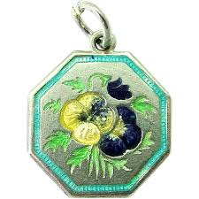 Flower Of The Month Tlm Thomas L Mott Pansy May U0027flower Of The Month U0027 Sterling Silver