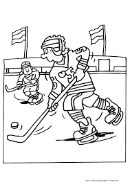 ice hockey winter sports color sports coloring pages color