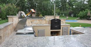 Backyard Kitchen Design Ideas by Kitchen Design Built In Stainless Steel Grill And Smoker Also