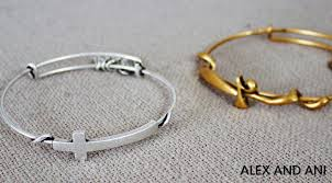cross bangle bracelet images Alex and ani wire jpg