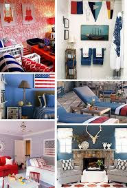 red white and blue decor for summer lamps plus