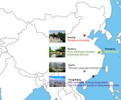 Guilin China Map by China Studies University College Utrecht Students