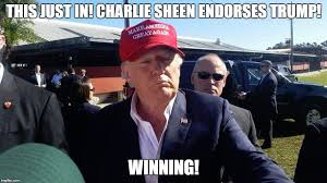 Charlie Sheen Winning Meme - image tagged in donald trump charlie sheen winning imgflip
