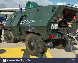 armored vehicle of the german federal police called