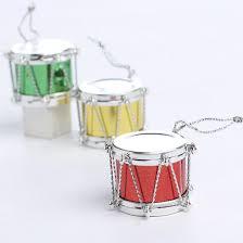 miniature metallic drum ornaments ornaments