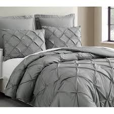 light grey comforter set estellar 3pc light grey comforter set queen size pinch pleat pattern