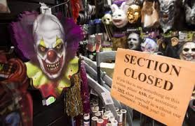 halloween store kansas city more schools ban clown halloween costumes after scares pranks wsj