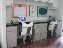 Built In Desk Diy Diy Built In Desk Makeover With Crown Molding Tutorial Build It