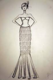 wedding dress sketches swirling the universe