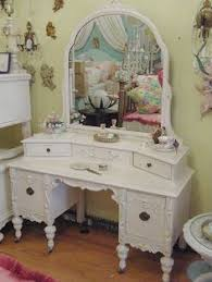 Ornate Vanity Table Hand Painted Antique Vanity Reader Feature Color Depth