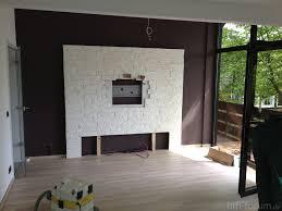 Schlafzimmer Mit Holz Tapete Holzkche Mit Steintapete Wohndesign