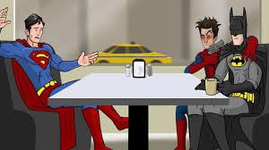 spider man forces superman fly save gwen l7