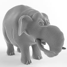 childrens plastic toy elephant 3d model cgtrader