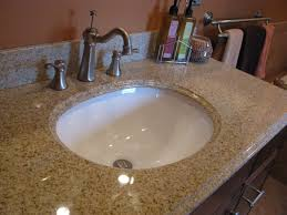 overmount sink on granite drop in bathroom sink with granite countertop thedancingparent com