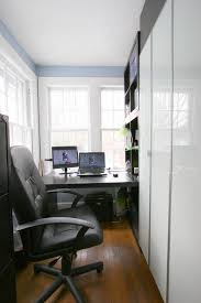 furniture small office with executive chair and small computer