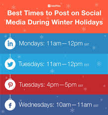 what day is thanksgiving usually on best times to post on social media during the winter holidays