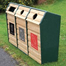 wooden bin wood effect recycling bin 294 litre
