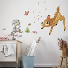 Bedroom Wall Stickers Uk Disney Bambi U0026 Thumper Giant Stickers Great Kidsbedrooms The