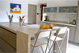 plan de travail cuisine beton faire un plan de travail en béton ciré dans la cuisine déco cool