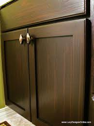 Refinish Oak Cabinets How To Use Gel Stain Diy Gel Stained Master Bath Cabinet Makeover