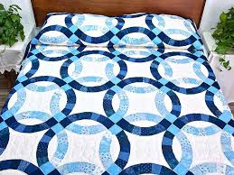 wedding ring quilt for sale navy blue and wedding ring quilt photo 1 quiltsmart