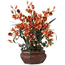 Silk Flower Centerpieces Bay Isle Home Large Cymbidium Silk Flower Arrangement In Burgundy