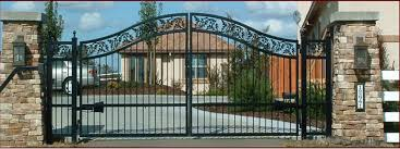 ornamental iron wrought iron fencing driveway gate