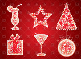 christmas cocktails clipart sparkling christmas symbols gift star cocktail and christmas