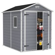 Keter Clamps Keter Manor 6 X 8 Ft Storage Shed Hayneedle