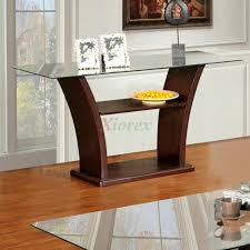 Sofa Tables Cheap by Columba Glass Top Sofa Table In Burnished Cherry Xiorex
