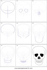 Easy To Draw Scary Halloween Pictures by Best 25 How To Draw Skulls Ideas On Pinterest How To Draw