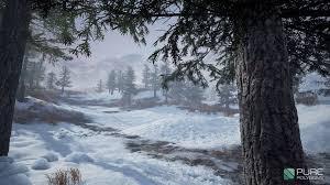 artstation substance tutorial forest snow ground