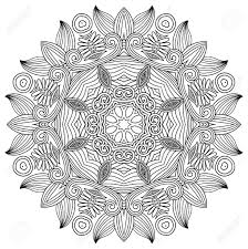black and white circle flower ornament ornamental lace