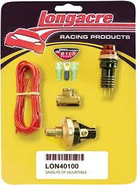 oil pressure warning light low oil pressure warning light kit 15 50psi longacre 50100
