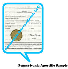 Pennsylvania travel documents images Pennsylvania apostille png