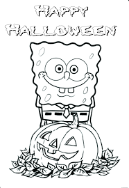 Free Halloween Coloring Page by Printable Halloween Spongebob Coloring Pagesfree Printable